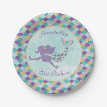 Mermaid Birthday Paper Plates