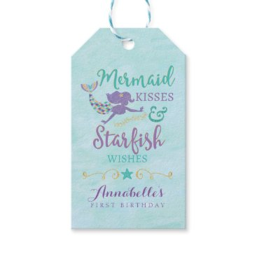 YourMainEvent Mermaid Birthday Party Gift Favor Tags