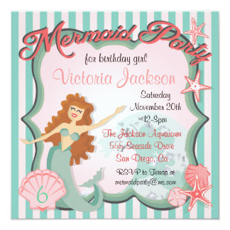 Mermaid Birthday Party Invitation