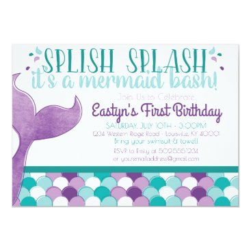 BrownCowCreatives Mermaid Birthday Party Invitation