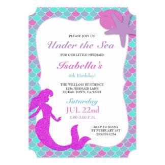 mermaid birthday party invitations  announcements  zazzle, invitation samples
