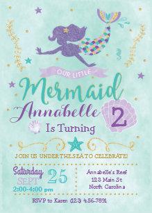 mermaid invitations 400 mermaid announcements invites