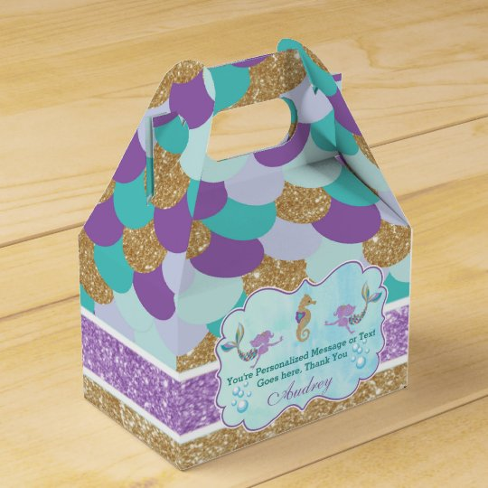 Wedding Favor Ideas Mermaid: Mermaid Birthday Party Personalized Favor Box
