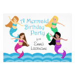 Mermaid Birthday Party Personalized Invites