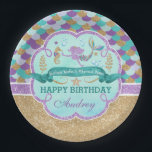 "Mermaid Birthday Party Personalized Paper Plate<br><div class=""desc"">Mermaid Birthday Party Personalized Paper Plate</div>"