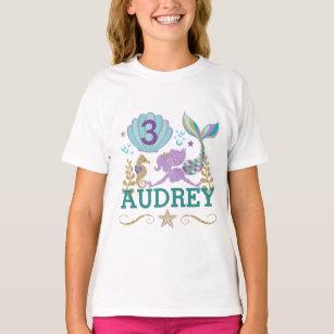 Toddler T shirt Youth Tshirt, Girl Mermaid Birthday Shirt Disney Mermaid At Heart Mermaid Shirt