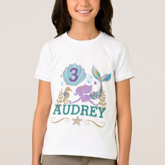 Mermaid Birthday Party Personalized T Shirt