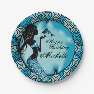 Ocean Themed Mermaid Birthday Party Plates