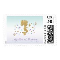 Mermaid Birthday Party Postage Stamp Under The Sea