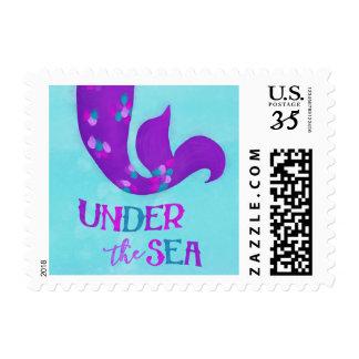 "Mermaid Birthday Party Postage | ""Under the Sea"""