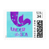 "Mermaid Birthday Party Postage | ""Under the Sea"""