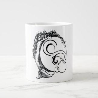 Mermaid Black/White Mug