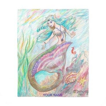 pegacorna Mermaid Blanket med custom name