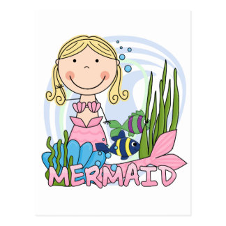Mermaid - Blond Tshirts and Gifts Postcard