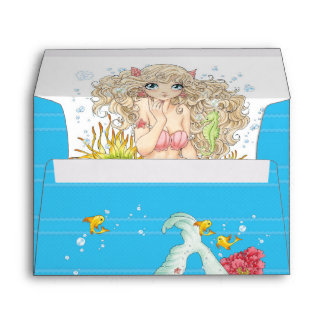 Mermaid (blue) envelope