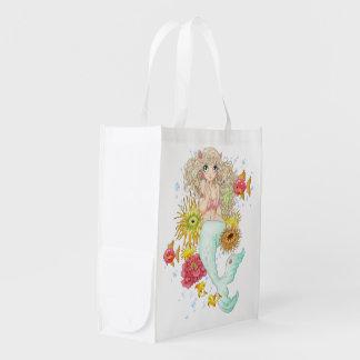 Mermaid (blue) grocery bag