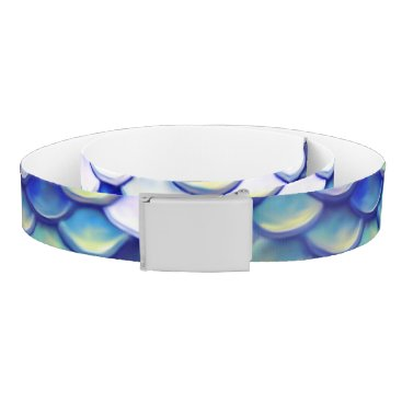 Beach Themed Mermaid Blue Skin Pattern Belt