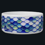 """Mermaid Blue Skin Pattern Bowl<br><div class=""""desc"""">Now everybody can be a mermaid/siren at all times. I made this beautiful blue mermaid fish skin pattern,  made each stroke individually for each scale to give the pattern a nice crafty look and make the colors pop. Enjoy your mermaid day.</div>"""