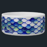 "Mermaid Blue Skin Pattern Bowl<br><div class=""desc"">Now everybody can be a mermaid/siren at all times. I made this beautiful blue mermaid fish skin pattern,  made each stroke individually for each scale to give the pattern a nice crafty look and make the colors pop. Enjoy your mermaid day.</div>"