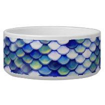Mermaid Blue Skin Pattern Bowl