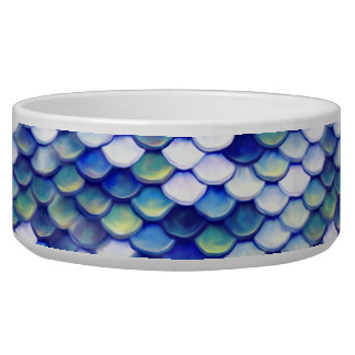 Mermaid Blue Skin Pattern Bowl