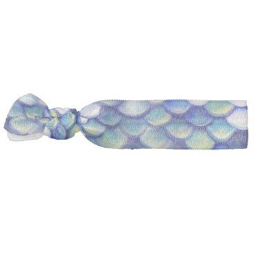 Beach Themed Mermaid Blue Skin Pattern Hair Tie