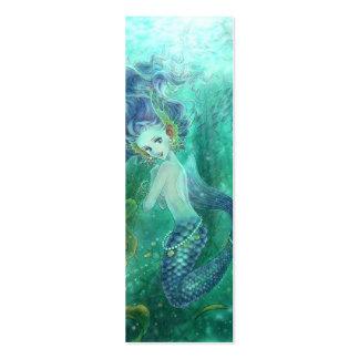 Mermaid Bookmark Business Card Templates