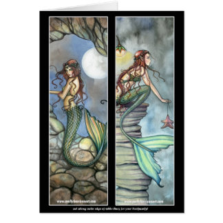 Mermaid Bookmark Card by Molly Harrison