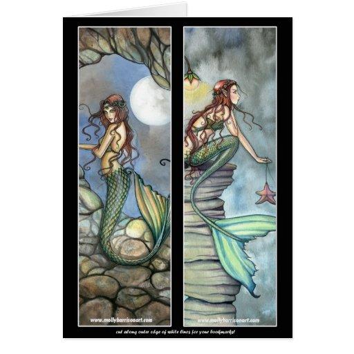 Mermaid Bookmark Card by Molly Harrison