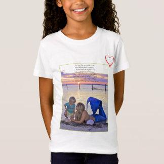 Mermaid & Boy at the Beach Poem T-Shirt