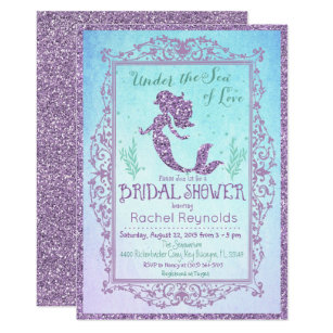 mermaid bridal shower invitation