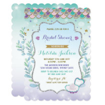 Mermaid Bridal Shower Invitation Beach Ocean Party