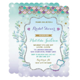 Under the sea bridal shower invitations announcements zazzle mermaid bridal shower invitation beach ocean party filmwisefo Images