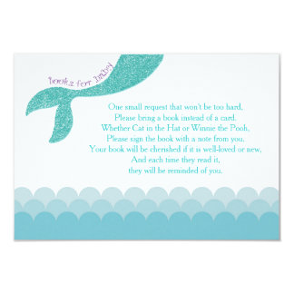 Mermaid bring a book insert, books for baby cards