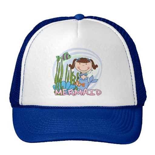 Mermaid - Brunette Tshirts and Gifts Trucker Hat