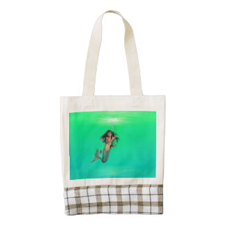 Mermaid Bubbles Zazzle HEART Tote Bag