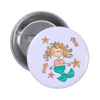 Mermaid Pinback Buttons