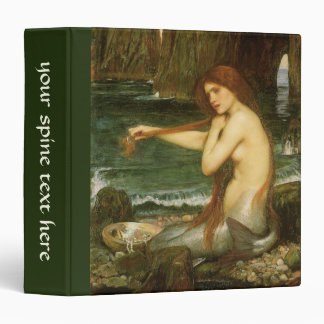 Mermaid by JW Waterhouse, Victorian Mythology Art Binder