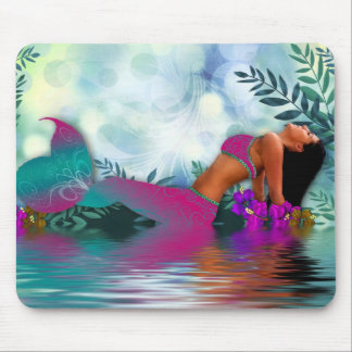 Mermaid by the Sea Mouse Pad
