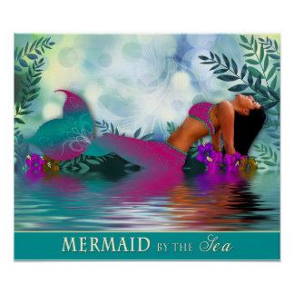Mermaid by the Sea - Poster