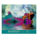 Mermaid by the Sea - Poster Print