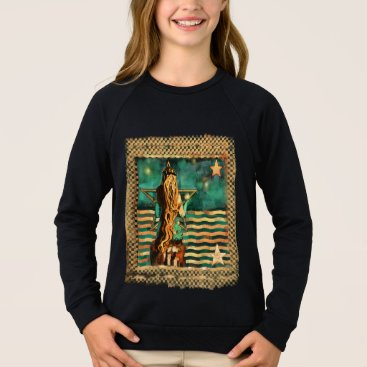 Beach Themed Mermaid by the Sea with Moon and Stars Sweatshirt