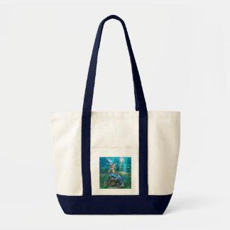 Mermaid Canvas Tote Bag