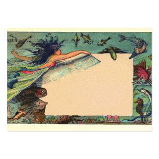 mermaid card business card
