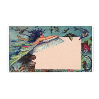 mermaid card label