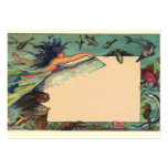 mermaid card large business cards (Pack of 100)