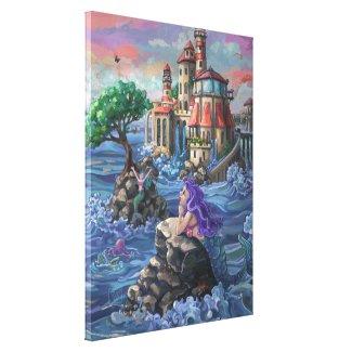 Mermaid Castle Canvas Print