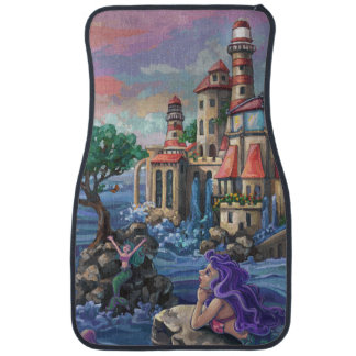 Mermaid Castle Car Floor Mat