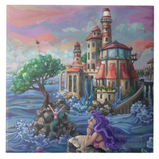 Mermaid Castle Ceramic Tile