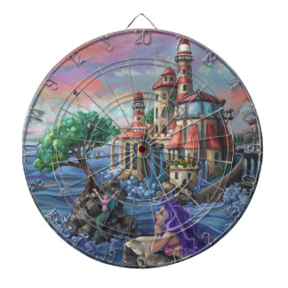 Mermaid Castle Dartboard With Darts